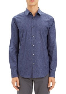 Theory Irving Tone Dot Button-Down Shirt