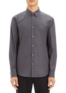 Theory Irving Tone Dot Button-Down Shirt