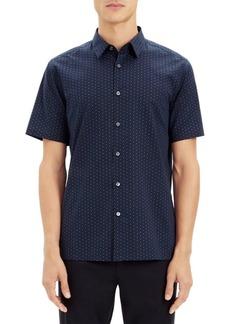 Theory Irvings Polka Dot Shirt