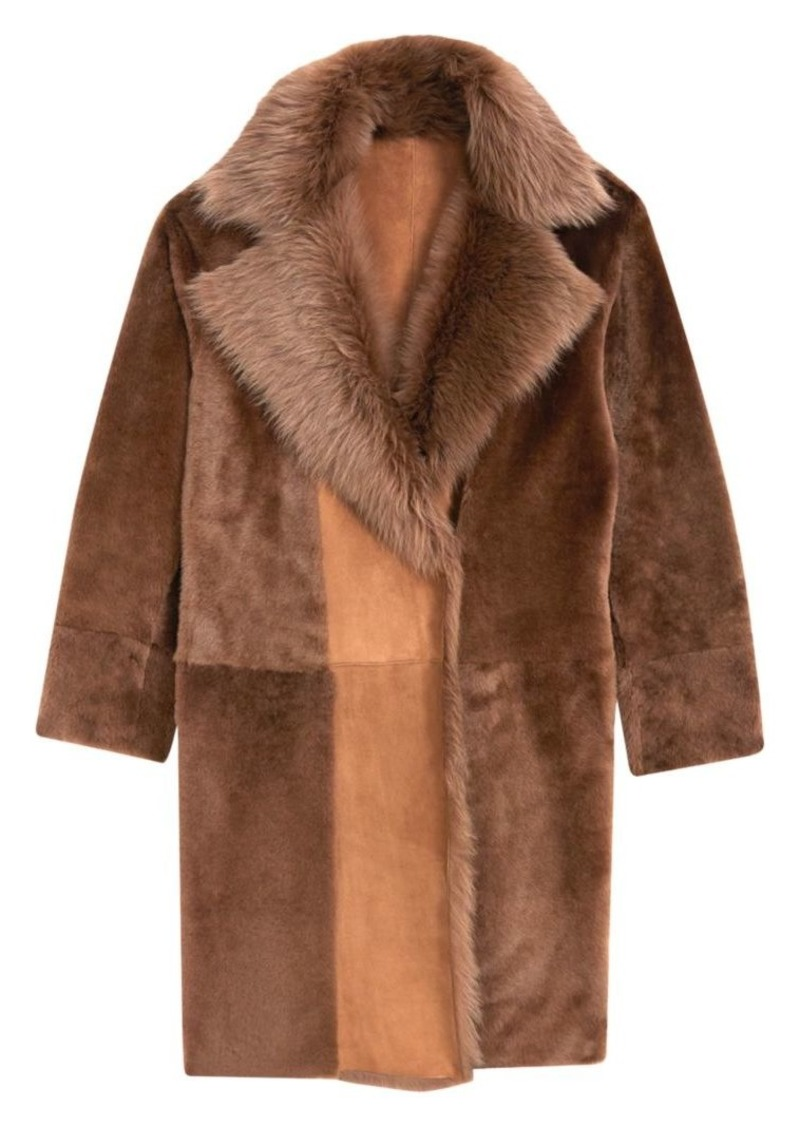 Theory Jathan Hollice Shearling Coat