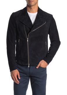 Theory Jax Amorim Goat Suede Moto Jacket