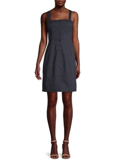 Theory Kayleigh Button-Front Dress