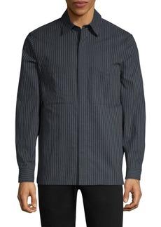 Theory Kian Kamino Stripe Shirt Jacket