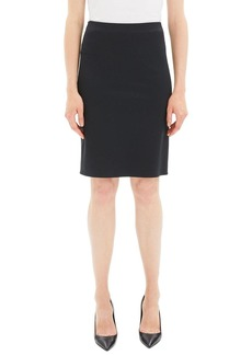 Theory Knit Knee-Length Pencil Skirt