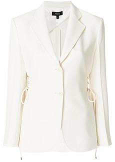 Theory lace-up detail blazer