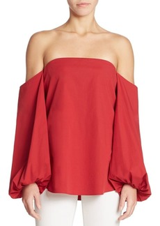 Theory Laureema Off-The-Shoulder Poplin Top