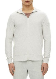 Theory Layer Cosmo Zip-Front Cotton Hoodie