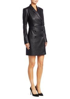 Theory Leather Blazer Dress