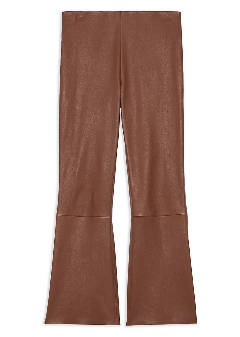 Theory Leather Kick-Flare Pants