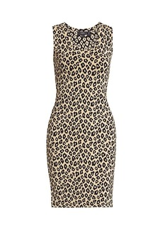 Theory Leopard-Print Tank Dress