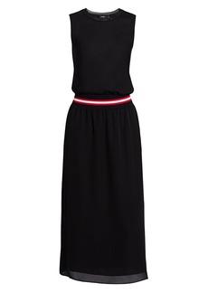 Theory Lewie Silk Midi Dress
