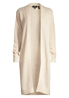 Theory Linen & Cashmere Open-Front Cardigan Sweater