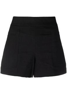 Theory linen-blend high-waisted shorts