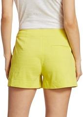 Theory Linen-Blend Mini Shorts
