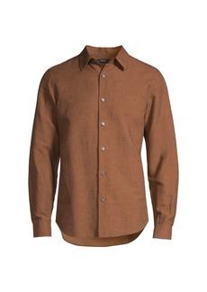 Theory Linen Regular-Fit Dress Shirt