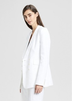 Theory Linen Shawl Collar Blazer