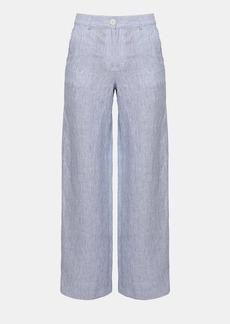 Theory Linen Stripe Carpenter Pant