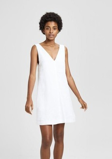 Theory Linen V Shift Dress