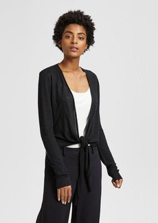 Theory Linen Wrap Cardigan