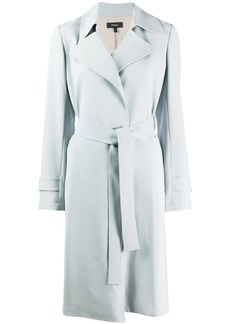 Theory long sleeve belted trench coat