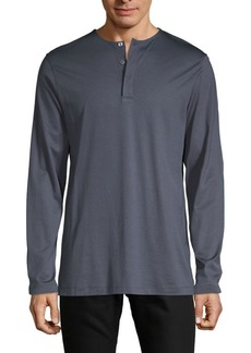 Theory Long-Sleeve Cotton-Blend Henley