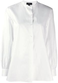 Theory long-sleeve flared shirt