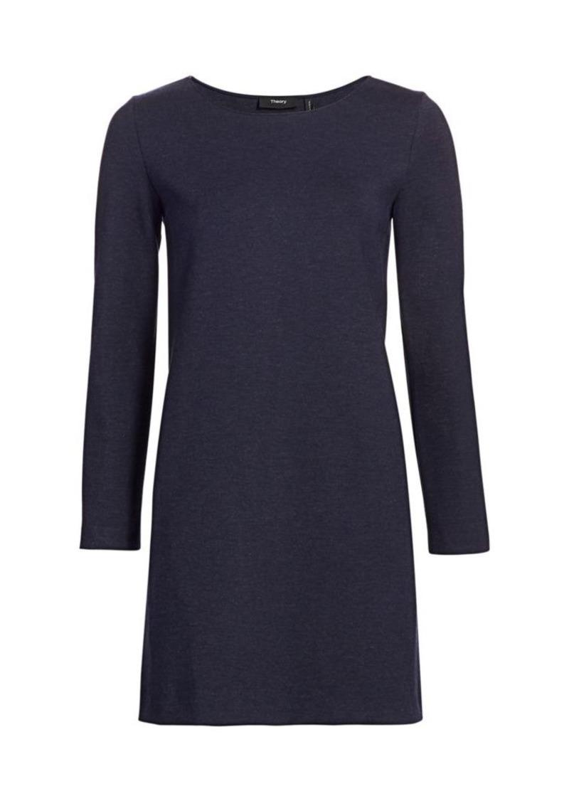 Theory Long-Sleeve Knit Dress