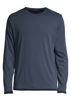 Theory Long-Sleeve Pima Cotton Double T-Shirt