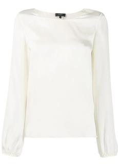 Theory long-sleeve shift blouse
