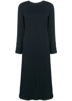 Theory long sleeved flared dress