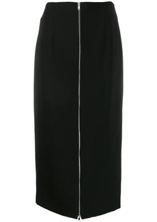 Theory long zipped pencil skirt