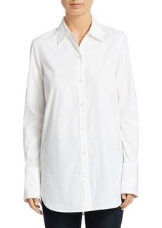 Theory Longline Tuxedo Shirt