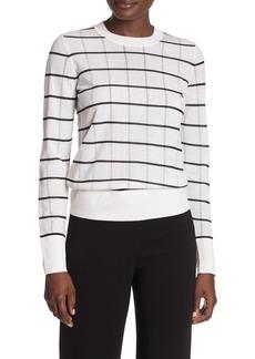 Theory Lory Sheer Grid Sweater