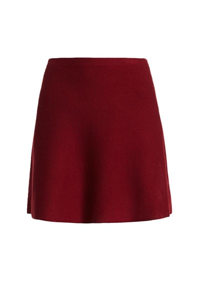 Theory Lotamee Wool-Blend Mini Skirt