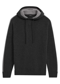 Theory Lounge Wool & Cashmere Arm-Stripe Hoodie