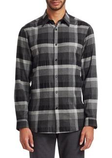Theory Menlo Monochrome Check Shirt