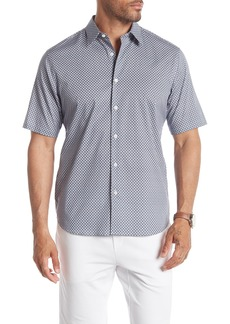 Theory Menlo Patterned Short Sleeve Slim Fit Shirt