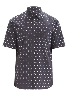 Theory Menlo Standard-Fit Polka Dot Short-Sleeve Shirt
