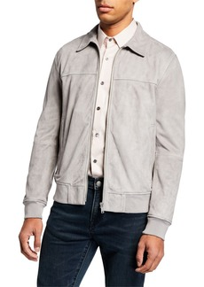 Theory Men's Able Noland Suede Zip-Front Jacket