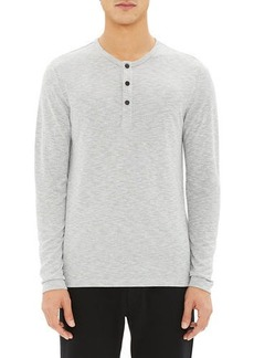 Theory Men's Anemone Snap-Placket Henley Shirt