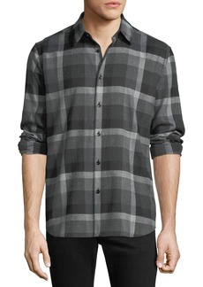Theory Men's Bantam Check Sport Shirt