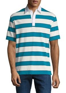 Theory Men's Barrel Stripe Rugby Polo Shirt