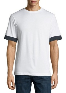 Theory Men's Block-Sleeve Cotton T-Shirt