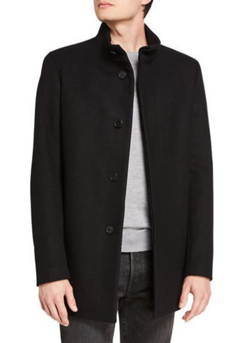 Theory Men's Christopher Modus Melton-Wool Topcoat