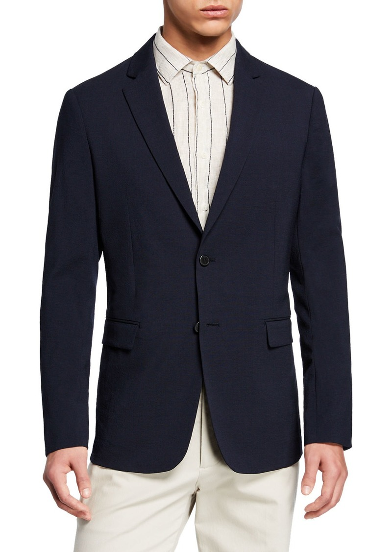 Theory Men's Clinton Seersucker Two-Button Jacket