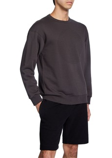 Theory Men's Cure Fleece Lunar Crewneck Sweatshirt