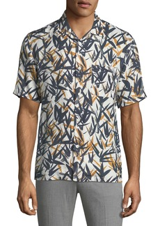 Theory Men's Daze Pinal Linen Short-Sleeve Sport Shirt