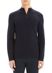 Theory Men's Detroe Milos Quarter-Zip Wool Sweater
