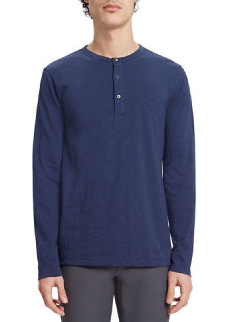 Theory Men's Essential Long Sleeve Henley Shirt