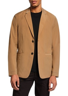 Theory Men's Euclid Paper Nylon Two-Button Packable Jacket
